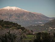 In and around Meronas village, Central Crete, below Mount Psiloritis, the highest mountain on Crete.