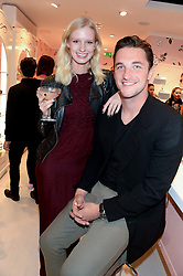 ALICE CORNISH and LIAM McGOUGH at the launch of the Benefit Global Flagship Boutique at 10 Carnaby Street, London on 11th September 2013.