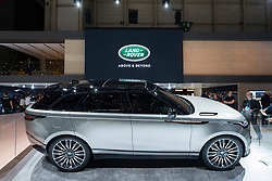 New Land Rover Velar luxury SUV on launch day at Geneva International Motor Show 2017