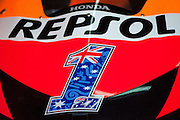 Casey Stoner machine front with number one