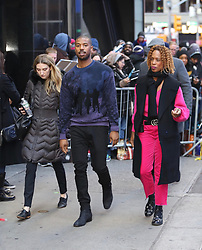 Michael B. Jordan is seen leaving Good Morning America. . 12 Nov 2018 Pictured: Michael B. Jordan. Photo credit: Joe Russo / MEGA TheMegaAgency.com +1 888 505 6342