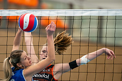 Sanne Wagener #7 of Talent Team in action in the first league match in the corona lockdown between Talentteam Papendal vs. Sliedrecht Sport on January 09, 2021 in Ede.