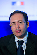 Laurent VIGIER, Director International and European Affairs, Caisse des Depots, at Shanghai / Paris Europlace Financial Forum, in Shanghai, China, on December 1, 2010. Photo by Lucas Schifres/Pictobank