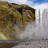 Skógafoss is one of the most visited waterfall in addition to Gullfoss and Seljalandsfoss. You can see the waterfall easily from the Ring Road.