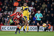 AFC Bournemouth Midfielder, Junior Stanislas (19) with a shot wide during the Premier League match between Bournemouth and Arsenal at the Vitality Stadium, Bournemouth, England on 3 January 2017. Photo by Adam Rivers.