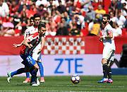 Xavi Torres of Sporting Gijon during the Spanish championship Liga football match between Sevilla FC and Sporting Gijon on April 2, 2017 at Sanchez Pizjuan stadium in Sevilla, Spain - photo Cristobal Duenas / Spain / ProSportsImages / DPPI