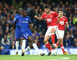 September 20, 2017 - London, Greater London, United Kingdom - Nottingham Forest's Andreas Bouchalakis.during Carabao Cup 3rd Round match between Chelsea and Nottingham Forest at Stamford Bridge Stadium, London,  England on 20 Sept  2017. (Credit Image: © Kieran Galvin/NurPhoto via ZUMA Press)