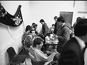 Ireland Soccer Team Training.1983.14.11.1983.11.14.1983.14th November 1983..The Ireland Soccer team trained, for the forthcoming match against Malta, at Stewarts Hospital,Palmerstown Dublin..Photo shows an open forum as the fans are allowed in to meet the players.