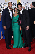 JADA PINKETT SMITH + WILL SMITH + son  @ the 73rd Annual Golden Globe awards held @ the Beverly Hilton hotel.<br /> ©Exclusivepix Media