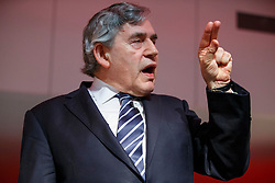 © Licensed to London News Pictures. 21/05/2016. London, UK. Former Prime Minister GORDON BROWN delivers a speech on the EU referendum at Fabian Society Summer Conference at TUC Congress House in London on Saturday, 21 May 2016. Photo credit: Tolga Akmen/LNP