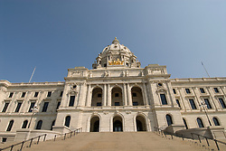 Minnesota, Twin Cities, Minneapolis-Saint Paul: The State Capitol Building in St. Paul, a large dome made of white marble..Photo mnqual313-75050..Photo copyright Lee Foster, www.fostertravel.com, 510-549-2202, lee@fostertravel.com.