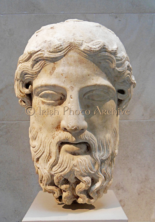 Marble head from a herm    1st–2nd century A.D.  Roman copy of Greek original