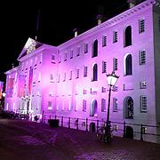 NLD/Amsterdam/20120112 - Elle Style Awards 2012, Scheepvaartmuseum Amsterdam buitenzijde verlicht