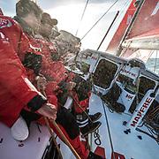 Leg Zero, Rolex Fastnet Race: start on board MAPFRE, Blair Tuke and Antonio cuervas Mons. Photo by Ugo Fonolla/Volvo Ocean Race. 06August, 2017