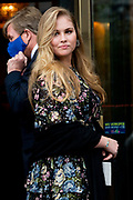 "AMSTERDAM, 27-04-2021, Carre<br /> <br /> Koninklijke familie komt aan bij Carre in verband met de TV opnamen van ""Koningin Maxima een leven vol Muziek"" /// Royal family arrives at Carré in connection with the TV recordings of ""Queen Maxima a life full of Music"" <br /> <br /> Op de foto: Prinses Amalia Foto: Patrick van Emst/Brunopress"