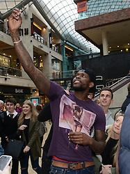 Bristol City's Jay Emmanuel-Thomas takes a selfie - Photo mandatory by-line: Dougie Allward/JMP - Mobile: 07966 386802 - 11/03/2015 - SPORT - Football - Bristol - Cabot Circus Shopping Centre - Johnstone's Paint Trophy
