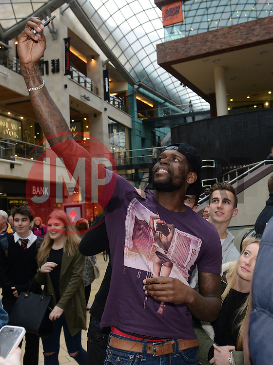 Bristol City's Jay Emmanuel-Thomas takes a selfie - Photo mandatory by-line: Dougie Allward/JMP - Mobile: 07966 386802 - 11/03/2015 - SPORT - Football - Bristol - Cabot Circus Shopping Centre - Johnstone's Paint Trophy