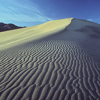 Ripples climb a sand dune in Death Valley National Park, California.