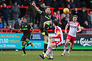 Forest Green Rovers Christian Doidge(9) during the EFL Sky Bet League 2 match between Stevenage and Forest Green Rovers at the Lamex Stadium, Stevenage, England on 26 January 2019.