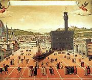 The burning at the stake of the Italian priest Savonarola in Florence