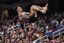 March 2, 2019 - Greensboro, North Carolina, US - BART DEURLOO from the Netherlands competes on the floor exercise at the Greensboro Coliseum in Greensboro, North Carolina. (Credit Image: © Amy Sanderson/ZUMA Wire)