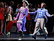 """Peggy Sawyer played by Caitlin Ehlinger and Billy Lawlor played by Blake Stadnik perform """"Young and Healthy in """"42nd Street"""" at the Hanover Theatre for the Performing Arts on Friday, Feb. 19, 2016."""
