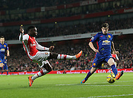 Arsenal's Danny Welbeck fires in a shot<br /> <br /> Barclays Premier League- Arsenal vs Manchester United - Emirates Stadium - England - 22nd November 2014 - Picture David Klein/Sportimage