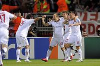 FOOTBALL - UEFA CHAMPIONS LEAGUE 2009/2010 - 1/2 FINAL - 2ND LEG - OLYMPIQUE LYONNAIS v BAYERN MUNCHEN - 27/04/2010 - PHOTO JEAN MARIE HERVIO / DPPI - JOY BAYERN AFTER IVICA OLIC'S GOAL