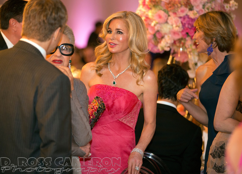 Philanthropist Paula Carano, center, greets guests at the gala opening of the San Francisco Symphony, Wednesday, Sept. 3, 2014 at Davies Symphony Hall in San Francisco. (Photo by D. Ross Cameron)
