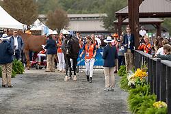Smolders Diana, groom, Van Der Horst Rixt, NED, Findley<br /> World Equestrian Games - Tryon 2018<br /> © Hippo Foto - Dirk Caremans<br /> 17/09/2018