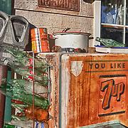 General Store 7up Bottle Dispenser - Eldorado Canyon - Nelson NV - HDR