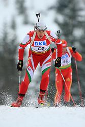 Imre Tagscherer (HUN) at Men 20 km Individual at E.ON Ruhrgas IBU World Cup Biathlon in Hochfilzen (replacement Pokljuka), on December 18, 2008, in Hochfilzen, Austria. (Photo by Vid Ponikvar / Sportida)