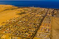 Aerial view of the city of Swakopmund, Namib Desert, Namibia
