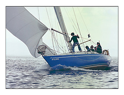 The Clyde Cruising Club's 1977 Tomatin Trophy the first Scottish Series held at Tarbert Loch Fyne.  An overnight race from Gourock to Campbeltown then on to Olympic Triangles in Loch Fyne. ..K3657 Williwil   B Ferguson