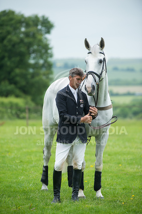 Andrew Nicholson at home - Lockeridge, Marlborough, Wiltshire, United Kingdom - 02 July 2013