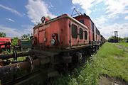 "Strasshof, Austria.<br /> Triebwagentage (railcar days) at Das Heizhaus - Eisenbahnmuseum Strasshof, Lower Austria's newly designated competence center for railway museum activities.<br /> Sleeping beauty: a ÖBB Type 1020 ""Krokodil"" heavy electric locomotive (built 1940-1956, running until 1995)."
