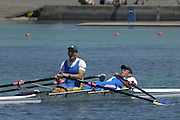 2005 FISA Rowing World Cup Munich,GERMANY. 19.06.2005; ITA M2X Silver medal winners. Photo  Peter Spurrier. .email images@intersport-images.[Mandatory Credit Peter Spurrier/ Intersport Images] Rowing Course, Olympic Regatta Rowing Course, Munich, GERMANY