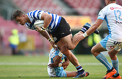 Cape Town-181020 Western Province Dan Kriel  challenged byMannie Libbok  of the  Vodacom Blue Bulls in the Currie Cup Semi-final game at Newlands  .Photographer:Phando Jikelo/African News Agency(ANA)