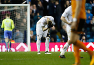 Disappointed Leeds United defender Pontus Jansson  at full time during the EFL Sky Bet Championship match between Leeds United and Wolverhampton Wanderers at Elland Road, Leeds, England on 7 March 2018. Picture by Paul Thompson.