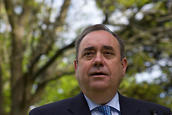 Scotland's First Minister Alex Salmond gives a speech in Edinburgh Scotland UK shortly after winning a landslide victory in the elections for the Scottish Parliament, in which his party the Scottish National Party ( SNP ) won a majority for the first time, Edinburgh Scotland, 06 May 2011. Picture by Jonathan Mitchell / i-Images