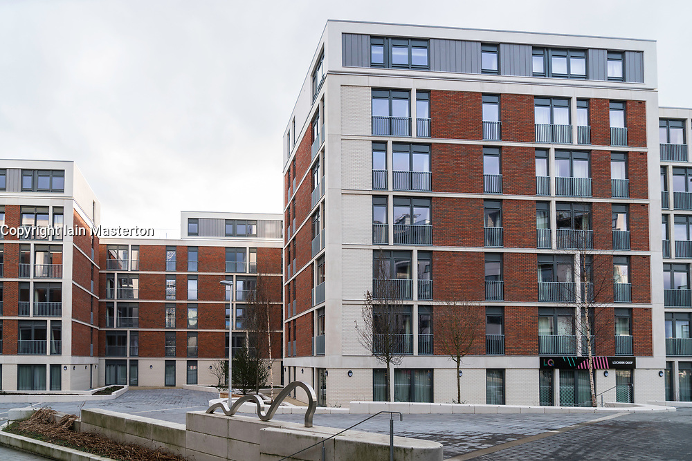 View of new apartments for rent at Lochrin Quay at Fountainbridge in Edinburgh, Scotland, United Kingdom
