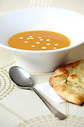 Pumpkin Soup with sour cream