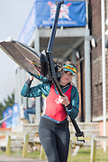 Caversham. Berkshire. UK<br /> Women's Single Sculls, Lucy BURGESS<br /> 2016 GBRowing U23 Trials at the GBRowing Training base near Reading, Berkshire.<br /> <br /> Tuesday  12/04/2016<br /> <br /> [Mandatory Credit; Peter SPURRIER/Intersport-images]
