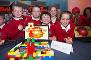 James Spellman, Louis O' Reilly, William McGuinness, Lilly Prior and Caoimhe Kelly from Scoil Bhride new Inn at the annual Junior FIRST Lego League run by Galway Education Centre, in the Radisson blu Hotel.  Photo:Andrew Downes<br />  Photo:Andrew Downes, XPOSURE