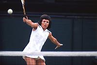 Billie Jean King  (USA)  Wimbledon  Tennis Championships 1972   Credit : Colorsport