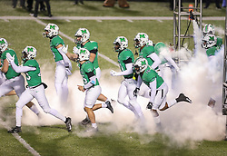 Dec 18, 2020; Huntington, West Virginia, USA; The Marshall Thundering Herd runs onto the field before their game against the UAB Blazers at Joan C. Edwards Stadium. Mandatory Credit: Ben Queen-USA TODAY Sports