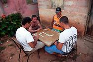 Playing dominoes in Gibara, Holguin, Cuba.