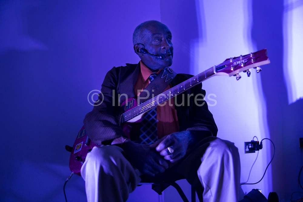 London, UK. Thursday 4th September 2014. Legendary Blues Man Leo Bud Welch, an 82 year old Mississippi-based Blues and Gospel musician playing his music live in London for the first time, following the release of his debut album in 2014.