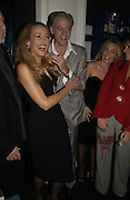 Jerry Hall, Bob Geldof, Jeanne Marine. First night party for High Society. Shanghai Blues. High Holborn.  October 10 2005. ONE TIME USE ONLY - DO NOT ARCHIVE © Copyright Photograph by Dafydd Jones 66 Stockwell Park Rd. London SW9 0DA Tel 020 7733 0108 www.dafjones.com