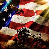 """""""Patriotic America - Painting by Dino Carbetta""""…<br /> <br /> Father, bless our veterans and all who serve our nation defending our freedom. For those who bravely gave their lives, grant them eternal rest. For those who are serving, give them courage. For those who served, we offer our gratitude. We ask this through Christ Our Lord. Amen."""